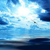eau et ciel bleu