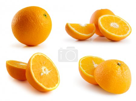Page of oranges isolated on the white