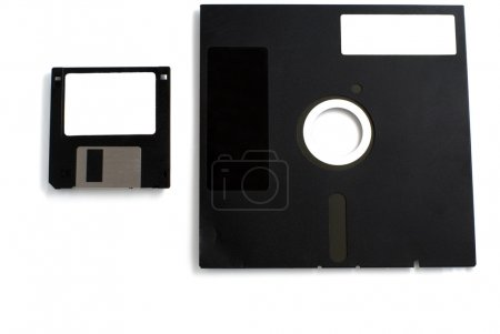 Black two floppies disk isolated...