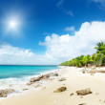 Beach of Catalina island, Dominican republic...