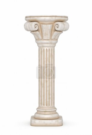 Classic Greek column. 3d render....