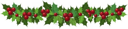 Illustration for Decorative Christmas holly garland. Vector illustration - Royalty Free Image