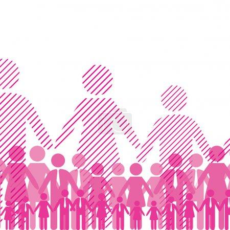 Illustration pour Équipe d'amitié d'affaires. Illustration vectorielle - image libre de droit