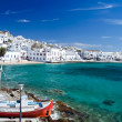 Bay of Mykonos in Greece