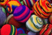 Woollen juggling balls