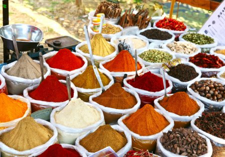 Indian colored powder spices
