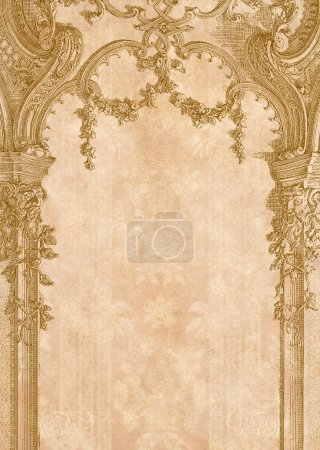 Victorian background with engraving frame.