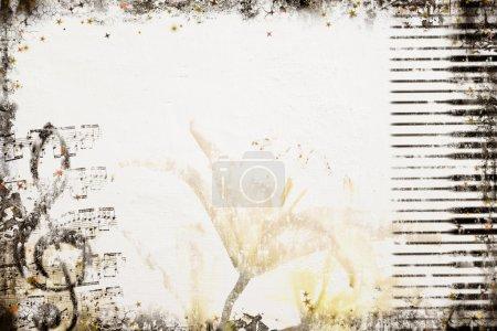 Photo pour Grunge Music Background. Série de fond - voir plus dans mon portefeuille . - image libre de droit