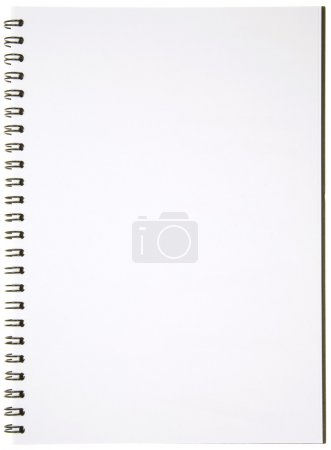 Photo for Blank Spiral Notepad isolated on White. Ready for your message. - Royalty Free Image
