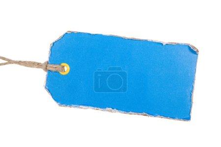 Photo pour Balise en carton bleu isolé sur fond blanc - image libre de droit