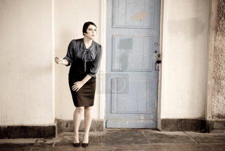 Woman Near The Door