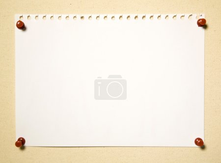 Notepad Page On Textile Background