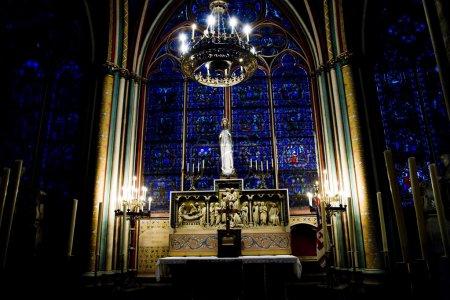 Photo pour Notre Dame de Paris. Vue intérieure . - image libre de droit