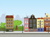 """Постер, картина, фотообои """"европейский городской пейзаж"""""""