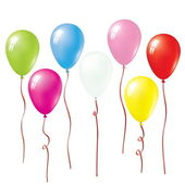 Set Of Vector Colorful Balloons