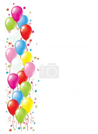 Illustration for Balloon Vector Border. Balloon Collection. - Royalty Free Image