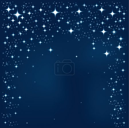 Illustration for Blue Star Vector Background. Star Background Series. - Royalty Free Image