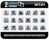 Web Icons Set Steelo Series Set 2 of 4