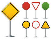 Blank traffic sign set Easy to edit vector image