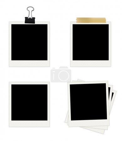 Illustration pour Collection de cadres photo. Facile à modifier l'image vectorielle . - image libre de droit