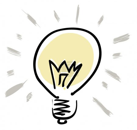 Illustration for Vector light bulb symbol. Graphic object series. - Royalty Free Image