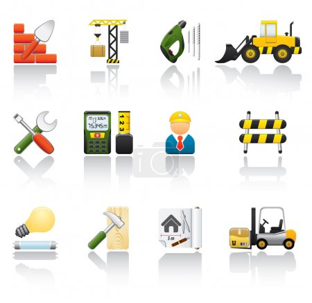 Illustration for Construction Icon Set. Easy To Edit Vector Image. - Royalty Free Image