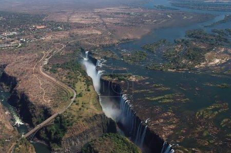 Photo pour Chutes Victoria, vue aérienne - image libre de droit