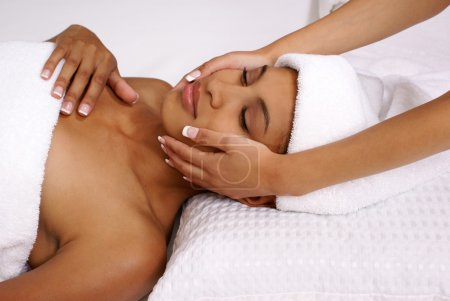 Spa facial treatment