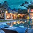 Luxury tropical villa and garden with swimming poo...