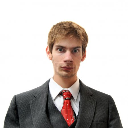 Serious and Direct unemotional man in suit
