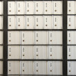 Post office boxes. These post office boxes are num...
