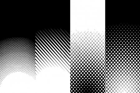 Abstract Halftone Patterns