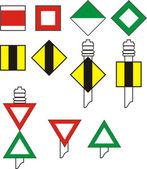 Signal codes for river navigation vector illustration