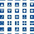 Informative signs for river navigation, vector ill...