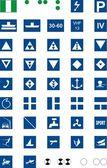 Informative signs for river navigation vector illustration