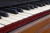 Starožitný harmonium klávesnice