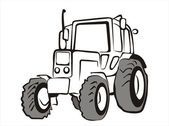 Tractor isolated vector illustration