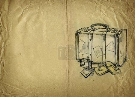 Foto de Ilustración de viaje en papel antiguo - Imagen libre de derechos