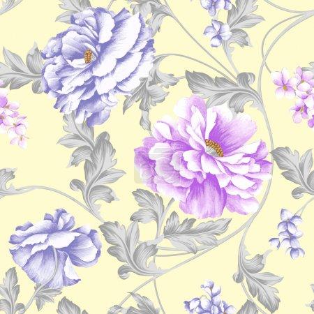 Photo pour Vives répétant fond floral - image libre de droit