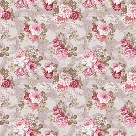 Photo for Seamless rose background pattern - Royalty Free Image