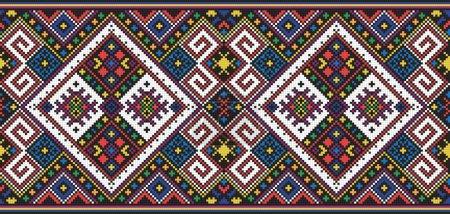 Illustration pour Modèle sans couture de l'ornement ukrainien national, vecteur - image libre de droit