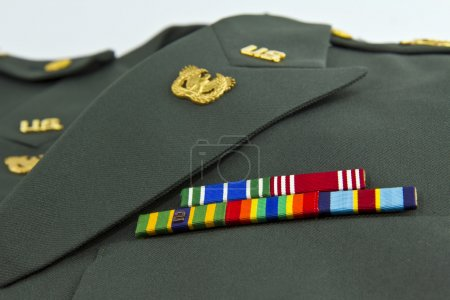 Photo for United States Army awards on class A Green Uniform - Royalty Free Image