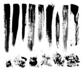 Set of brush strokes stains vector