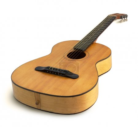 Photo for Acoustic guitar isolated on the white background - Royalty Free Image