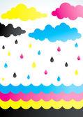 Rain of paint