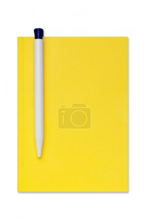 Photo for Isolated notebook with a pen. A clipping path is included for your convenience. - Royalty Free Image