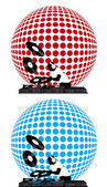 Clip-art with dj records turntable and disco ball