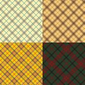 Seamless scottish tartan set