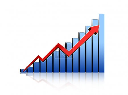 Photo for Financial growth stats - Royalty Free Image