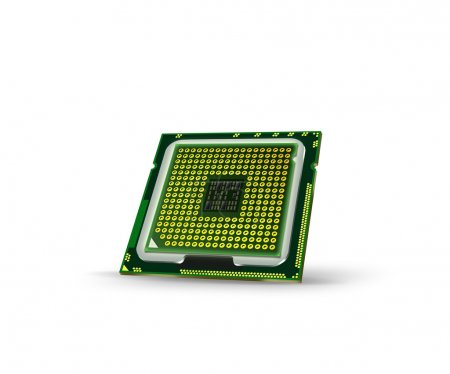 Photo for Abstract processor on white background - Royalty Free Image